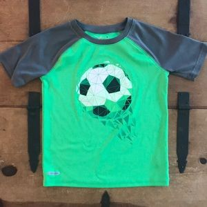 Jumping Beans Boys Size 6 Green Graphic Tee Shirt